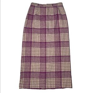 Vintage 70s Missoni Plaid Knit Skirt sz 42